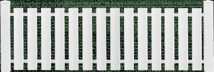 Pose d'une clôture blanche en PVC