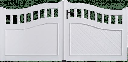 Portail PVC Anneaux