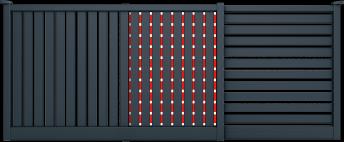 Couleur 7016 SMF - Barreaux couleur MGV 3000 (option couleur Mutation)