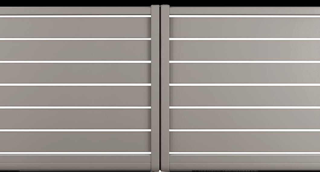 Portail aluminium Bilbergia