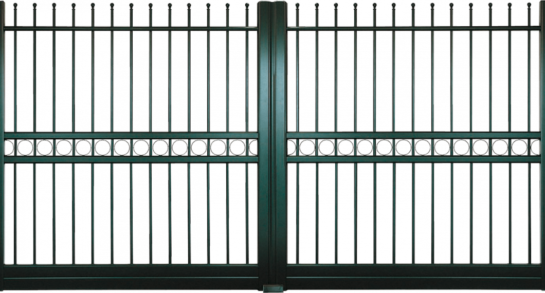 Portail aluminium Blason
