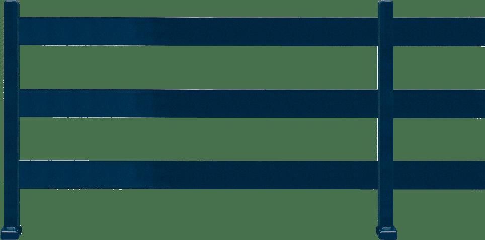 Clôture aluminium 3 lisses 100/20