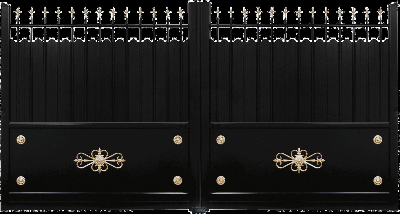 Mousse Sur Portail Pvc portail aluminium ecusson - les modèles traditionnels | charuel