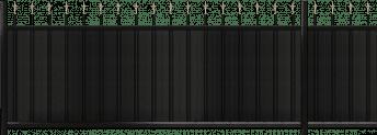 Couleur noir RAL 9005. Forme droite
