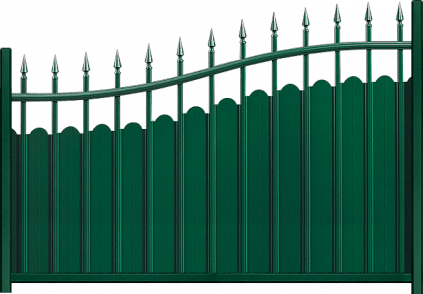 Clôture aluminium Fresque
