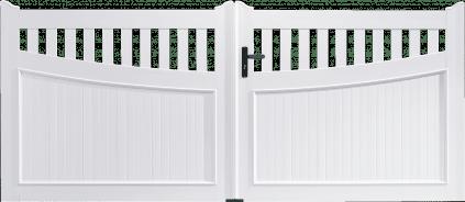 Portail PVC Guimbarde