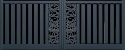 Portail aluminium Makaire