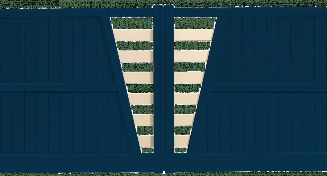 Portail aluminium Polka