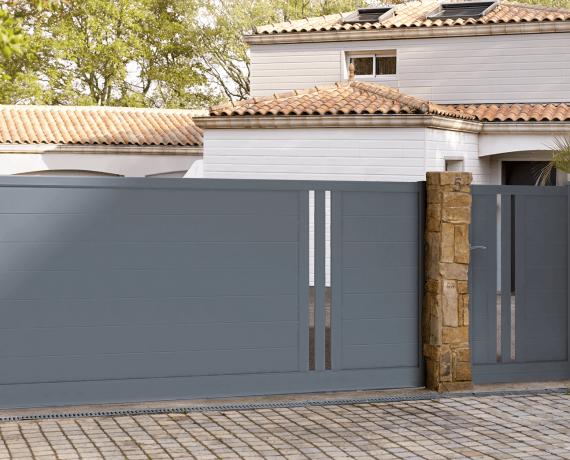 Portail aluminium coulissant Popillo