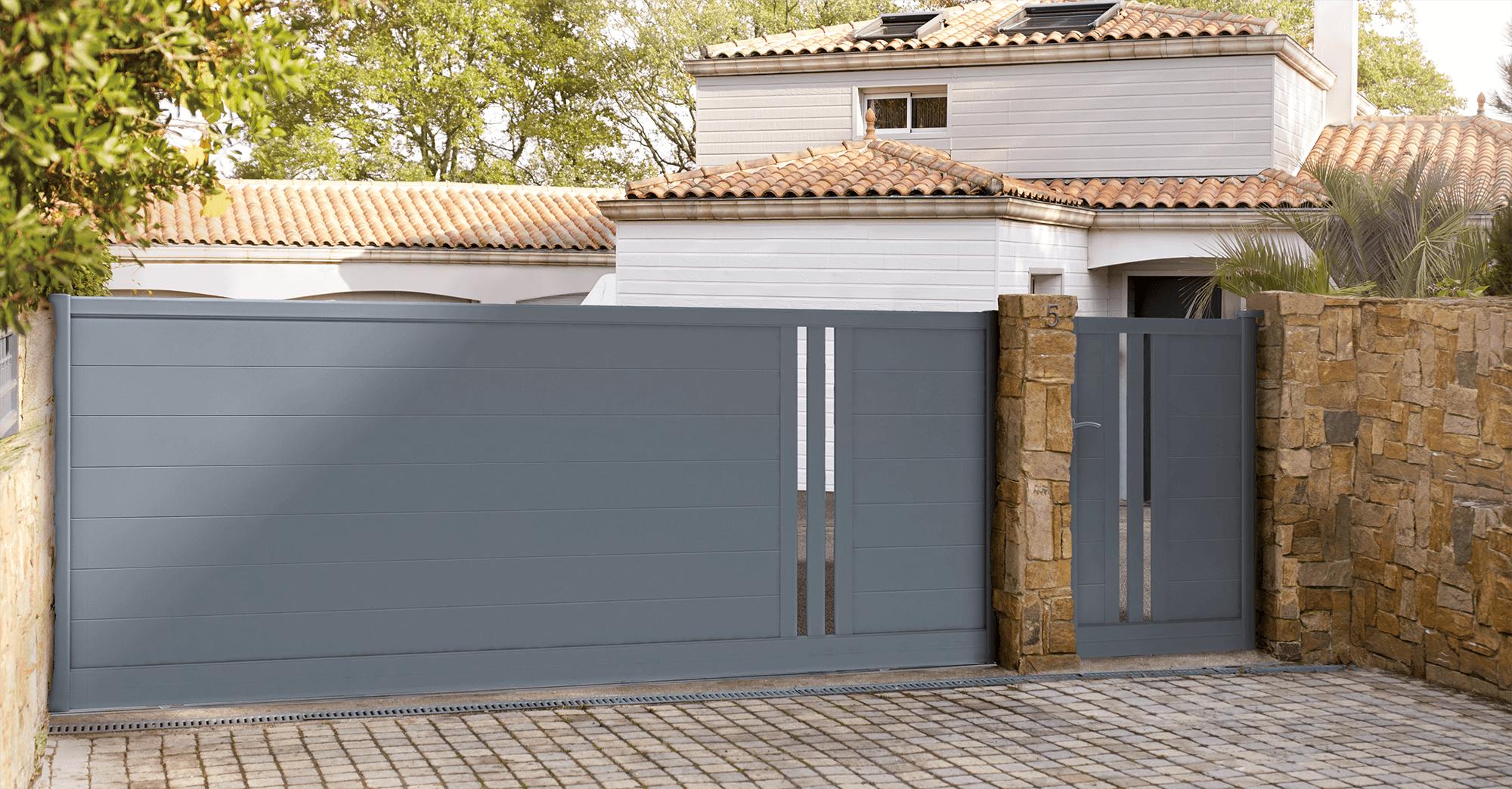 Super Portail aluminium Popillo - Les modèles contemporains | Charuel WM42