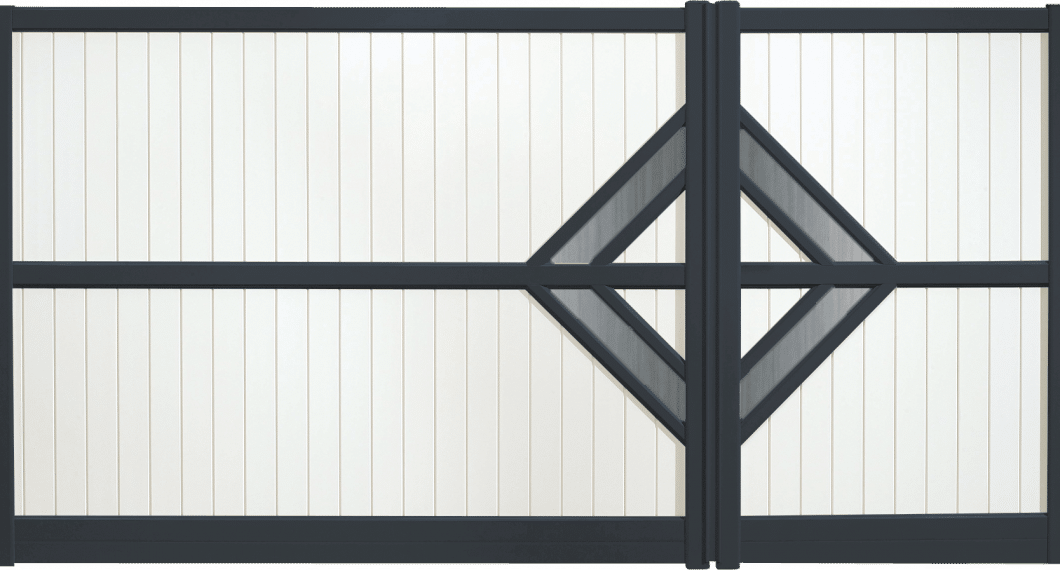 Portail aluminium Quadrille