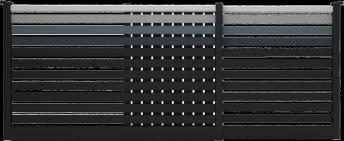 Option de dégradé «Vibration» couleurs 9005, 7016, 7031, 7004 et 7035 SMF