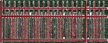 Clôture aluminium Sentier