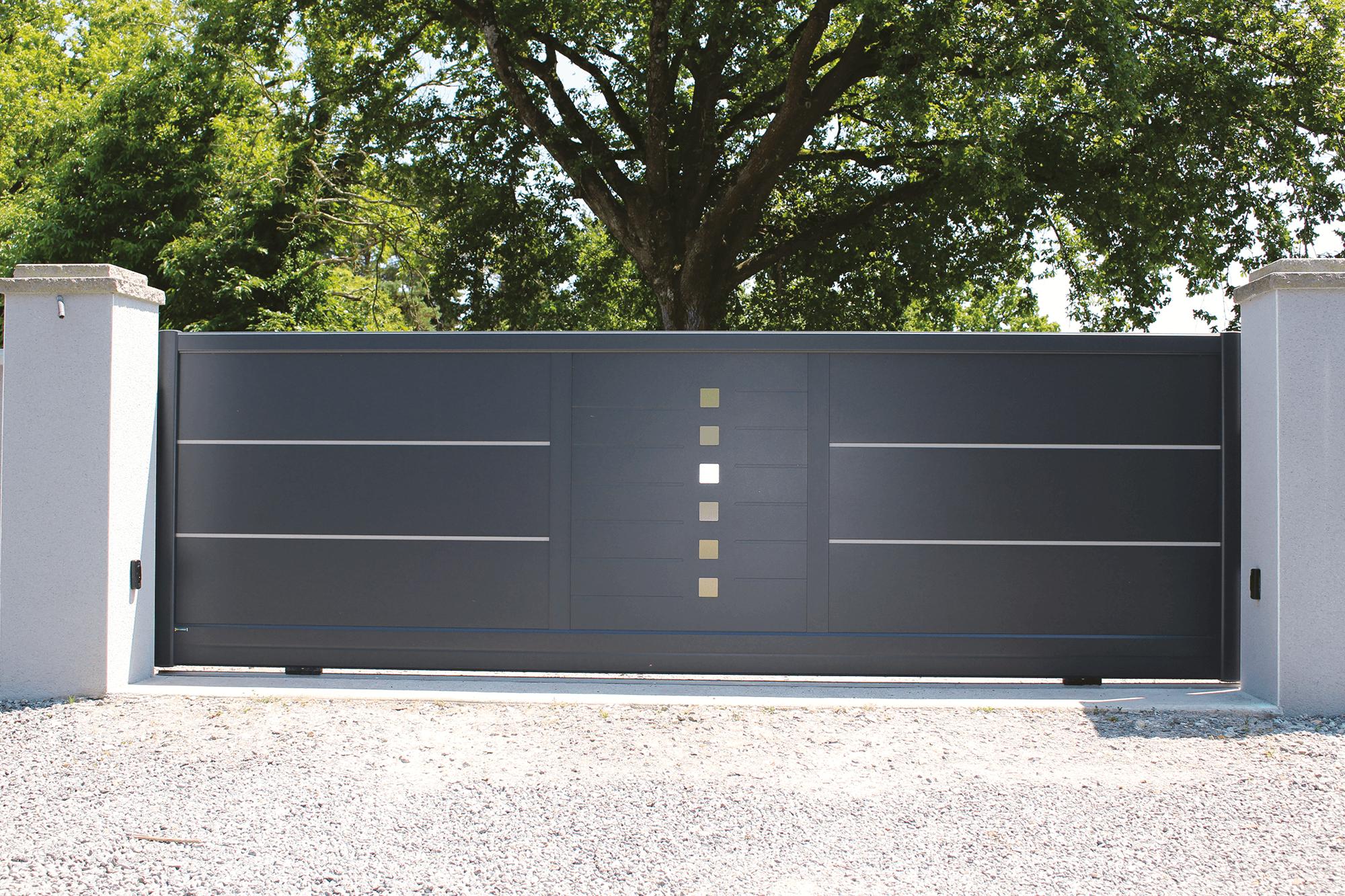 portail aluminium symphonie les mod les contemporains. Black Bedroom Furniture Sets. Home Design Ideas
