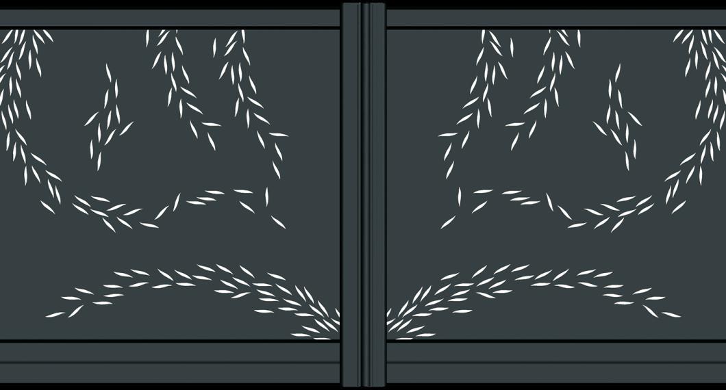 Portail aluminium Titane