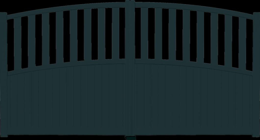 Portail aluminium Vent