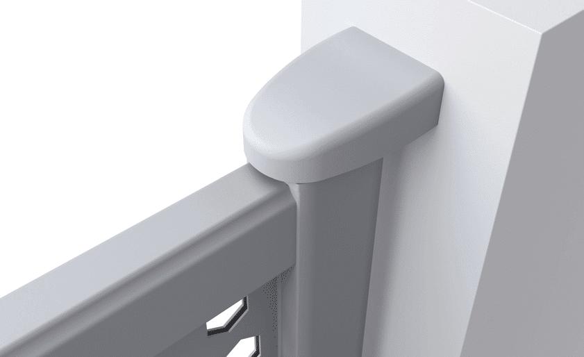 d tails techniques de votre portail en alu charuel gonds pivot. Black Bedroom Furniture Sets. Home Design Ideas
