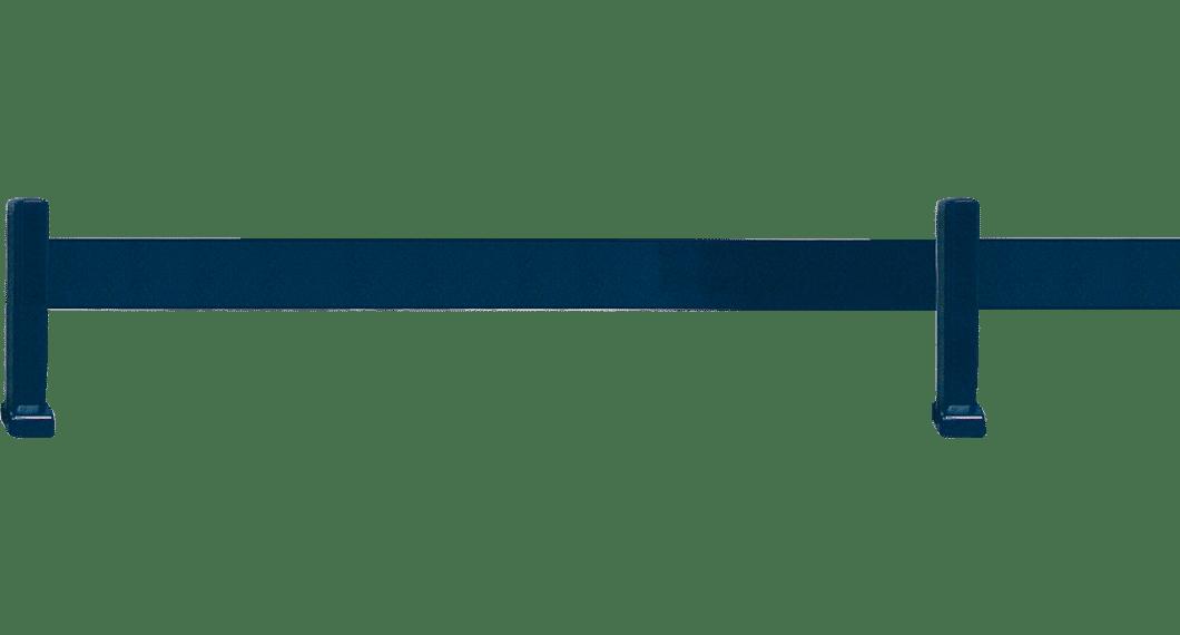 Clôture aluminium avec 1 lisse de 100 mm x 20 mm