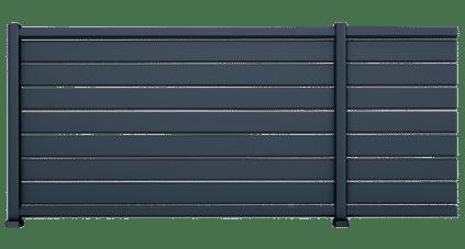 Clôture aluminium Alose, modèle ajourée.
