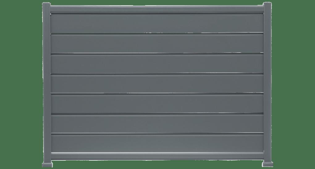 Bossa est une clôture en alu avec des lames obliques pour voir sans être vu