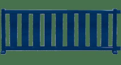 Clôture aluminium modèle COUNTRY. Fabrication Française et sur mesure.