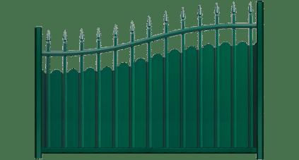 La clôture alu Fresque, style fer forgé . Une fabrication Française et sur mesure