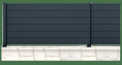 La clôture Alu Palisota est une création sur mesure et personnalisable de Charuel. Charuel votre fabricant de portails, clôtures et claustras Français