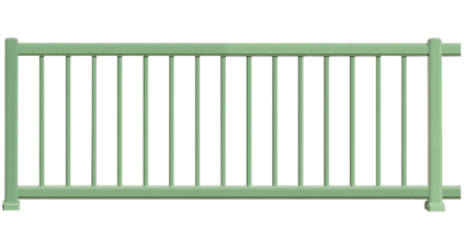 Clôture aluminium Ronde est composée de barreaux 20x20mm