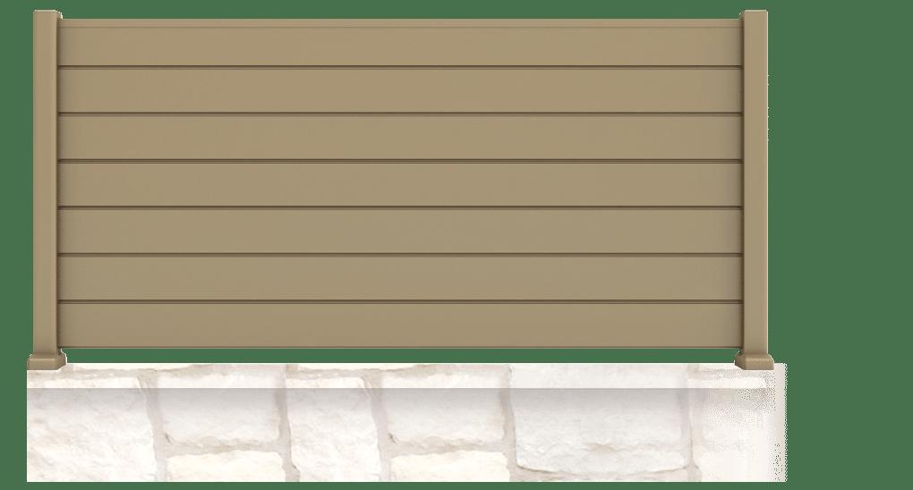Tupistra est une clôture en aluminium, de forme droite et pleine. Cette clôture vous préservera des regards indélicats. Pour pouvoir profitez de votre jardin.