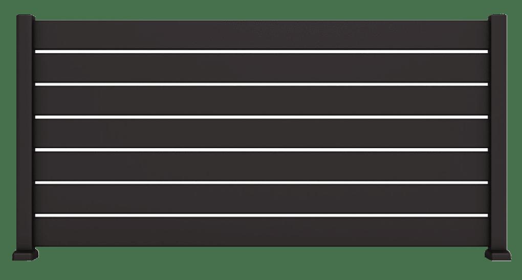 Vigia est une clôture en aluminium de la gamme des contemporains du fabricant français de portails CHARUEL