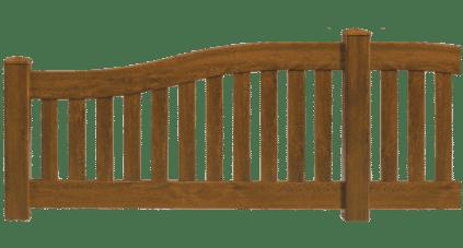 Clôture en PVC imitation bois modèle Soliste de Charuel