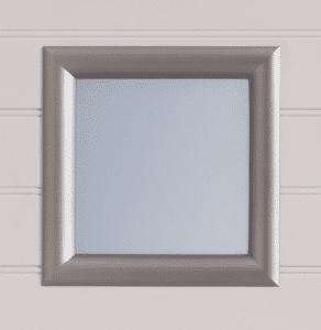 Option de personnalisation : Hublot carré pour portail PVC