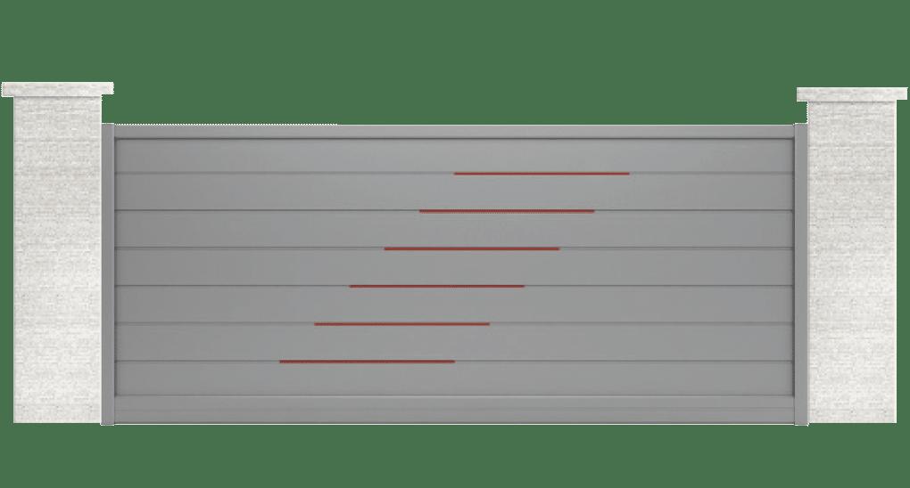 portail aluminium contemporain alocasia