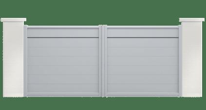 portail aluminium contemporain andromede