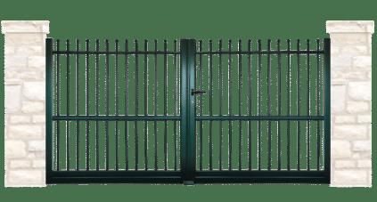 portail aluminium contemporain arcade