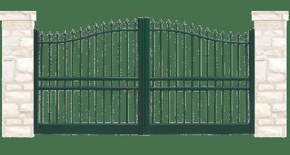 portail aluminium contemporain arthurien