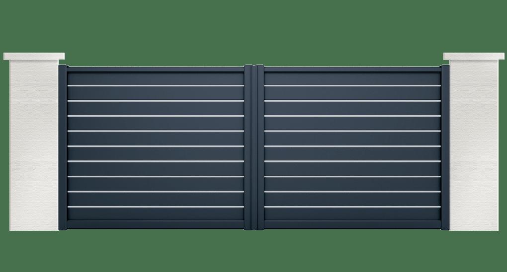 portail aluminium contemporain atene