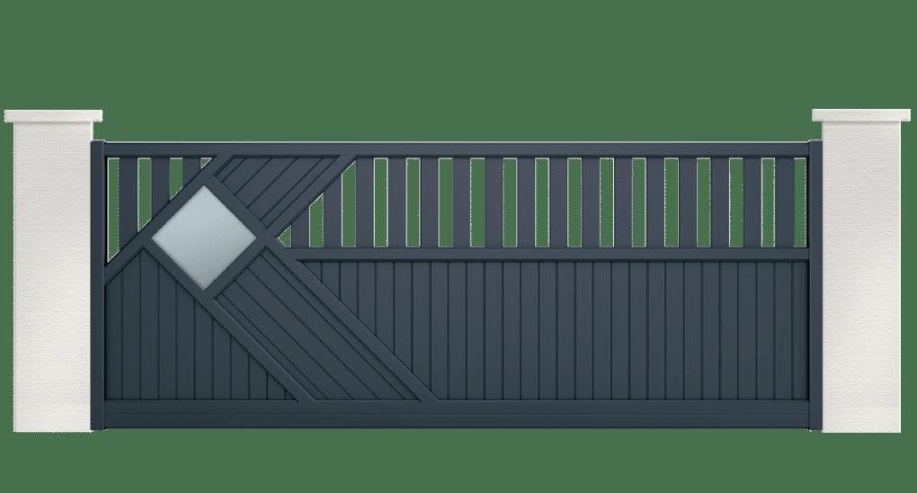 portail aluminium contemporain avarra