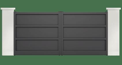 portail aluminium contemporain ballet