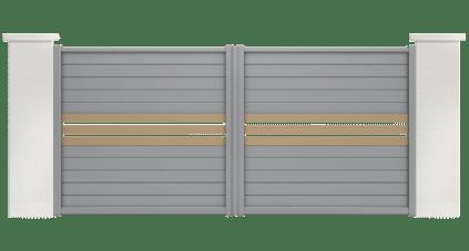 portail aluminium contemporain barbacenia