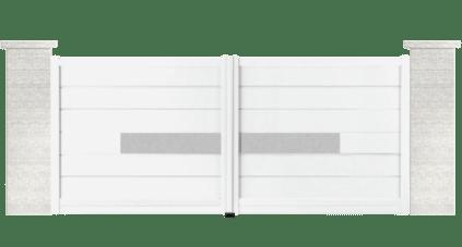 portail aluminium contemporain beck