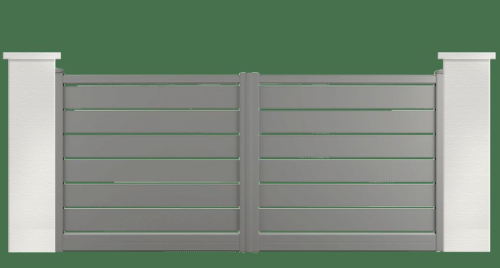 portail aluminium contemporain bilbergia