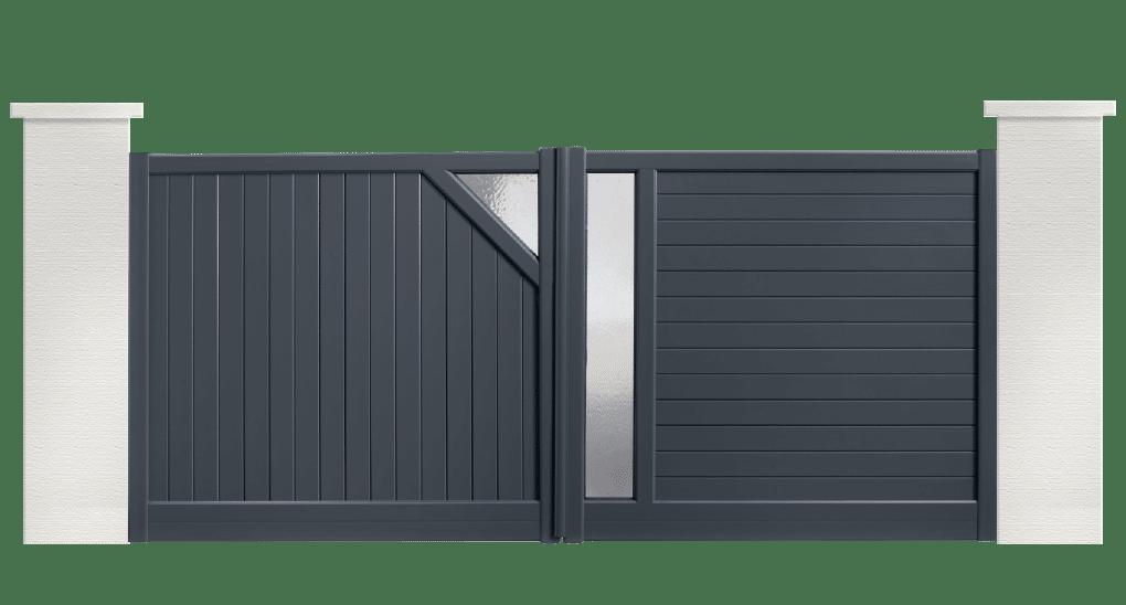 portail aluminium contemporain boléro