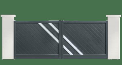 portail aluminium contemporain boogie