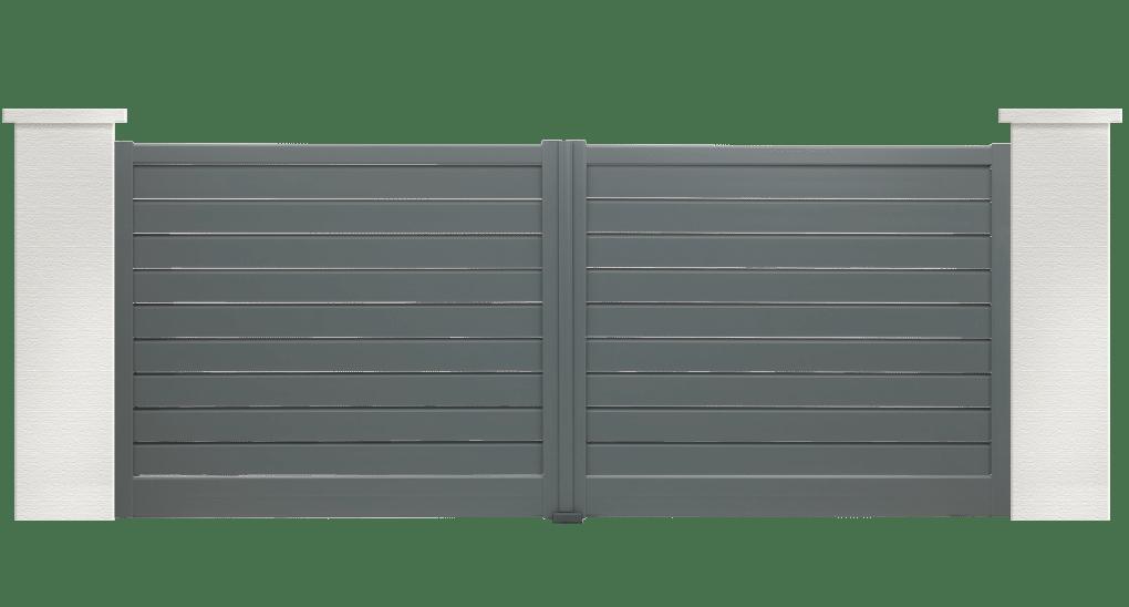 portail aluminium contemporain bossa