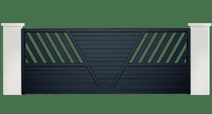 portail aluminium contemporain brosme