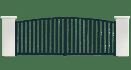 portail aluminium contemporain bruine