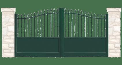 portail aluminium contemporain caleche