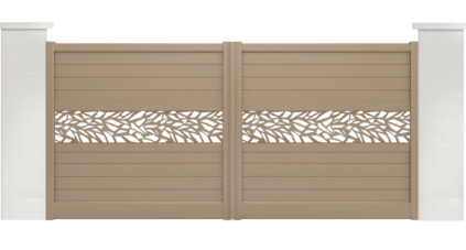 portail aluminium contemporain capret motif jungle