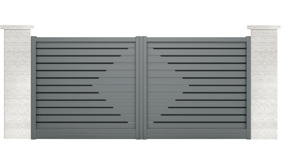 portail aluminium contemporain carassin